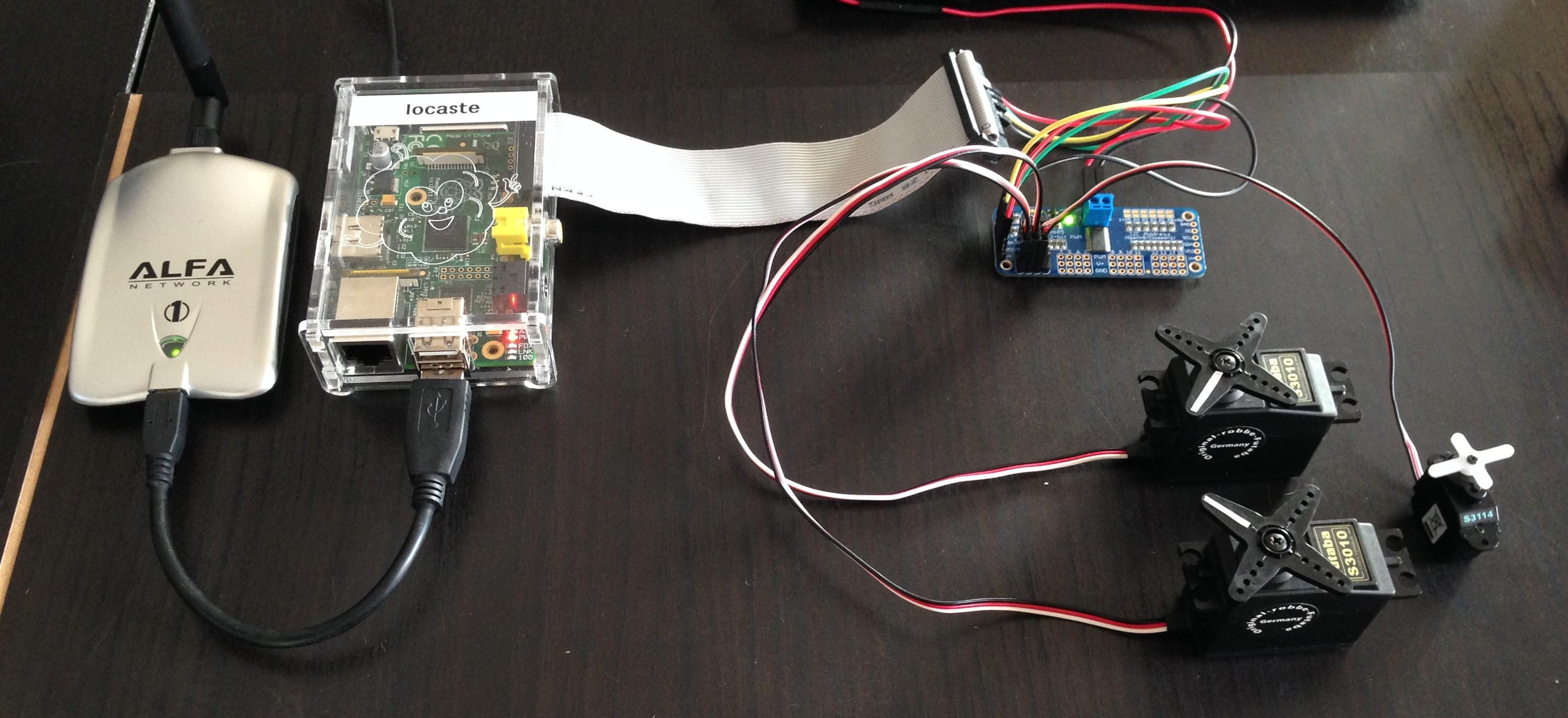 gpio - servos moteurs  joypad et wifi