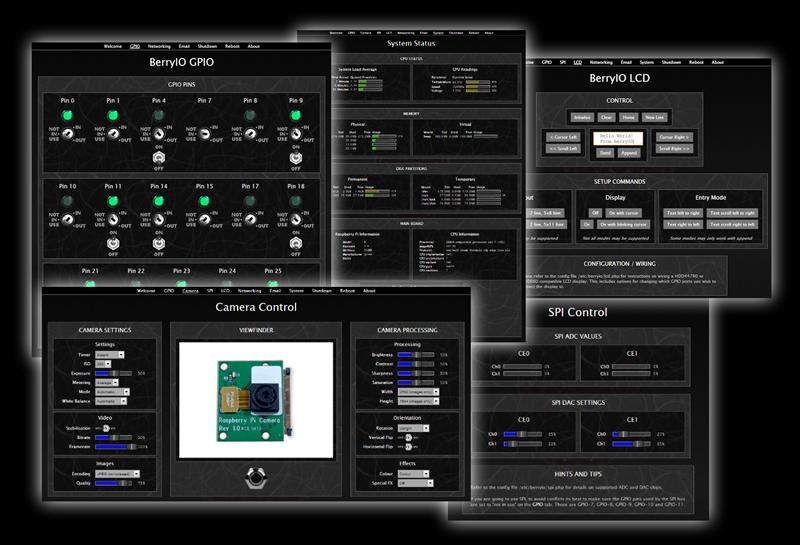 berryio  une interface web pour contr u00f4ler tous les ports