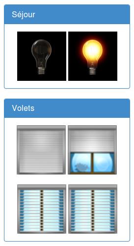 Domotique - commande lumières et volets